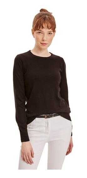 Suéter Defacto Básico Con Cuello Redondo Negro
