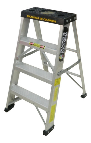 Escalera Aluminio Tijera 4 Pasos / 0.90 Metros 102 Kg