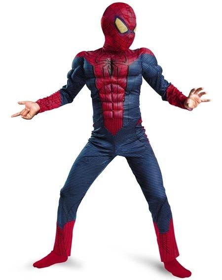 Spiderman Disfraz Hombre Araña Con Máscara Musculoso