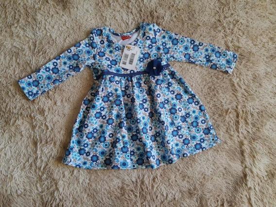 Vestido Para Bebê - Infantil Kyly Baby Manga Longa Floral
