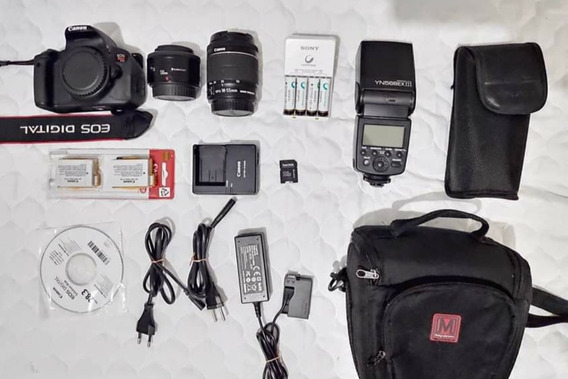 Kit Canon T5i + Flash + Carregadores E Acessorios
