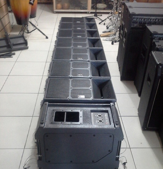 Sistema Line Array, Potência Machine, Amplificador, Graves