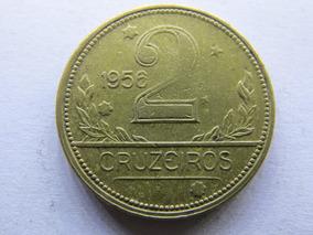 Arremate - Moeda De 2 Cruzeiros De 1956 - Mapa Lote Ref 0129