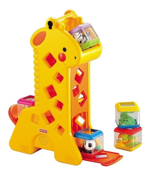 Brinquedo De Encaixe Educativo Girafa Blocos Geométricos