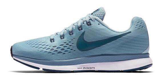 Tênis Nike Air Zoom Pegasus 34 Corrida Treino Academia Azul