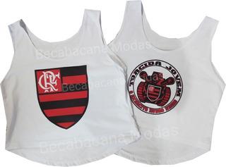 Kit Camisa Flamengo Feminina Regata Flabasquete Até Gg