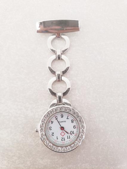 Reloj Enfermera Plateado