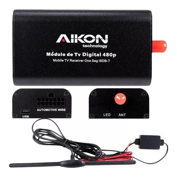 Receptor De Tv Digital Automotivo Aikon Atom Winca Aks-un1