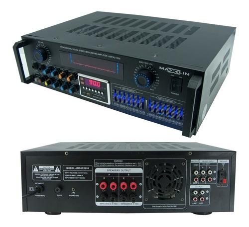 Amplificador De Sonido Maxlin Bluetooth Fm Usb/sd Ac1200