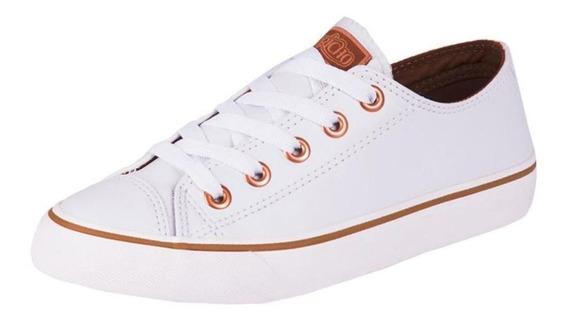 Tênis Capricho Feminino Like Class Branco/cobre Cp0542