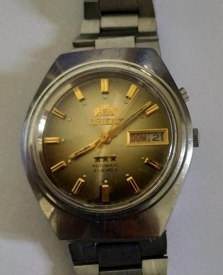 Relógio Orient 3 Estrelas 21 Jewels - Automático De Coleção