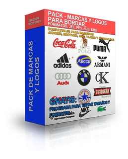 Pack Matrices Marcas Y Logos Para Bordar