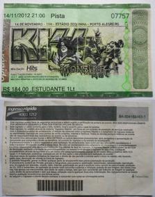Kiss Ingresso Show Monster Tour Porto Alegre Novembro 2012