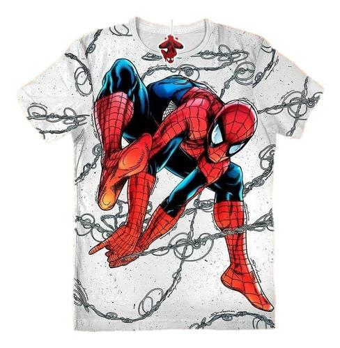 Camiseta Spiderman Hombre Araña Niños Marvel , Camisetas