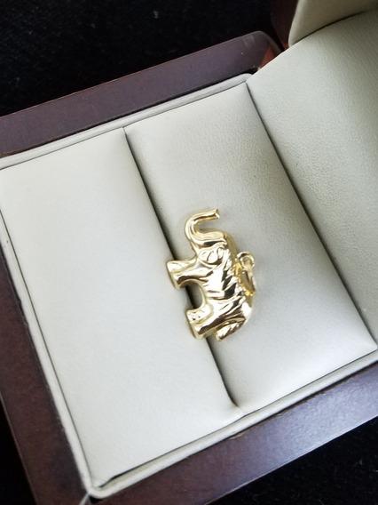 Dije De Oro Amarillo 14k Italy Tipo : Elefante