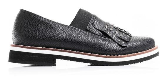 Zapatos Mujer Abotinados Cuero + Pomada Negro De Regalo