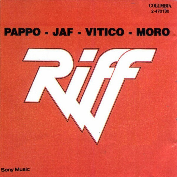 Riff Pappo - Jaf - Vitico - Moro Sny Cd Nuevo Sellado