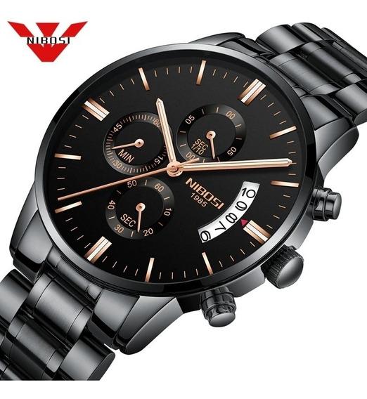 Relógio Masculino Nibosi 2309 Funcional Luxo