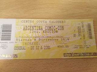 Entrada General Para Argentina Comic Con
