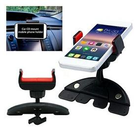 Suporte Veicular Celular Smartphone Entrada Cd Dvd Carro