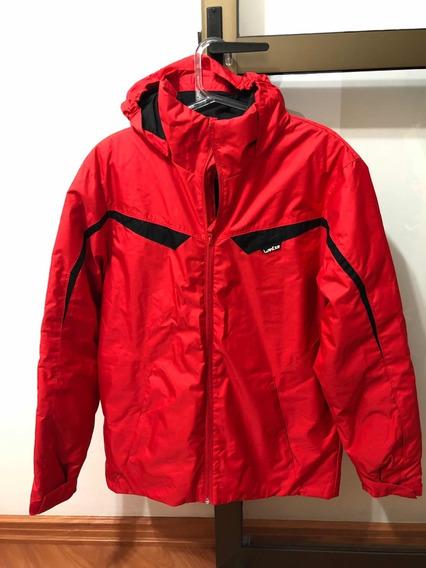 Jaqueta Casaco Masculino Nylon Wedze Vermelha Tam. P Usado