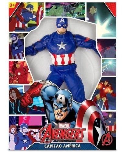 Capitao America Gigante 50cm  Boneco Marvel Vingadores Mimo