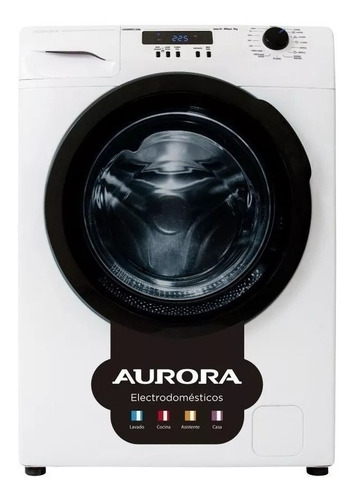 Lavarropas automático Aurora Lavaurora 6506 blanco y negro 6kg 220V
