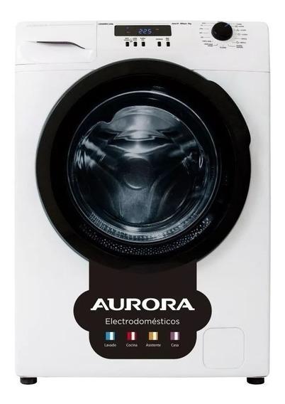 Lavarropas automático Aurora Lavaurora 6506 blanco/negro 6kg 220V