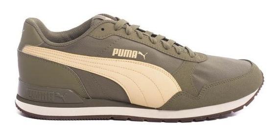 Zapatilla Puma St Runner V2 Nl Verde Beige 38-44 Envio Grat