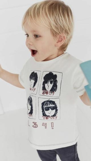 Remera Manga Corta Do Good Ramones Niños