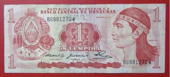 Honduras Billete 1 Lempira Vf Año 1980 Pick 68a