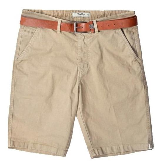 Bermuda Short Con Cinturón Casual Vestir Original