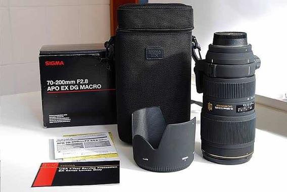 Lente Sigma 70-200mm 2.8 Para Canon Nova