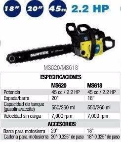 Motosierra Surtek Ms620