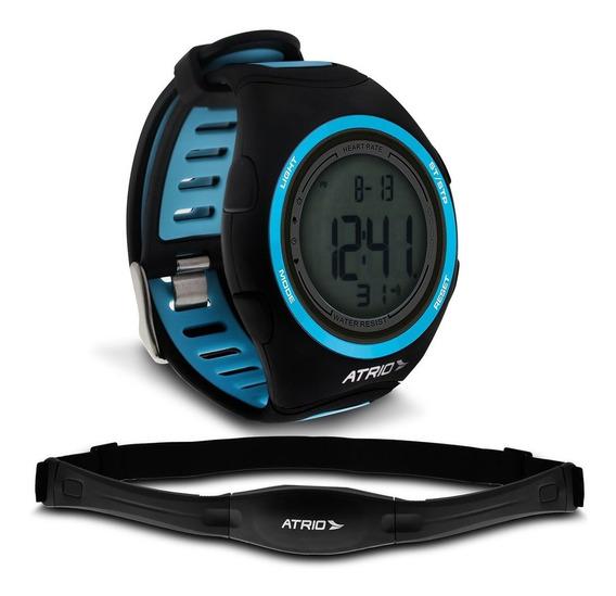 Relogio Heart Rate Atrio Citius Preto Azul Monitor Cardíaco