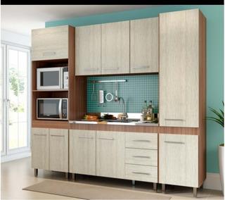 Cozinha Compacta Stilo Nobre Com Armário E Balcão