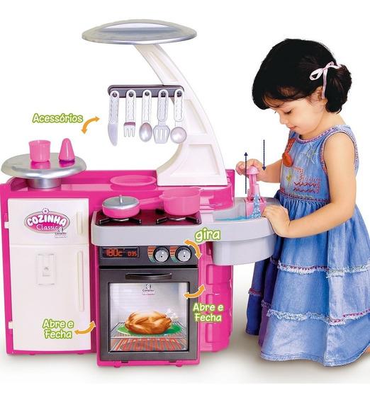 Cozinha Infantil Menina Completa Classic Cotiplas Pia Fogão