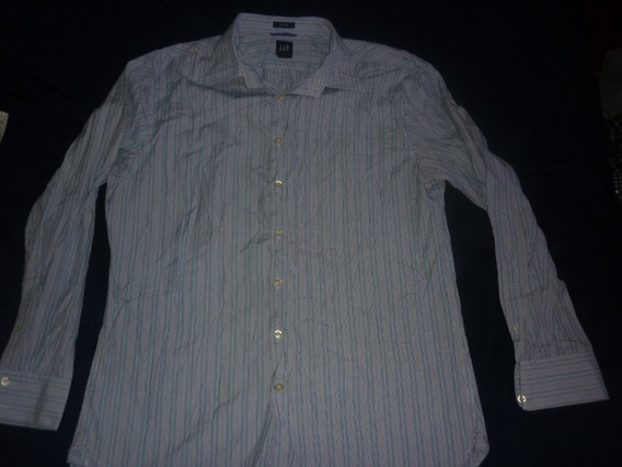 E Camisa Gap Fitted Rayada Talle Xl Art 80431