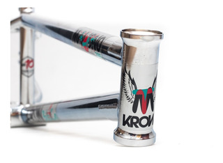 Cuadro Krow Maligno Signature Cromado ¡full Cromo 4130! Bmx
