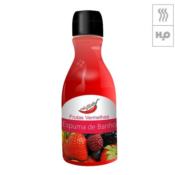 Espuma De Banho Chillies 80ml - Frutas Vermelhass