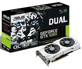 Placa De Vídeo Asus Geforce Gtx 1060 Dual Oc 3gb Gddr5 192bi