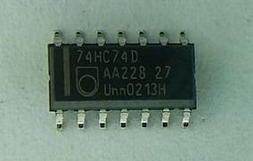 74hc74d Flip Flop Cmos Ic Philips, Enbalagem Com 50 Peças