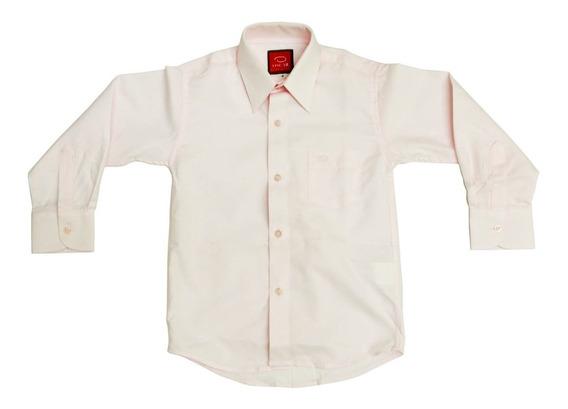 Camisa Manga Larga De Vestir Niño Oscar Beige O Hueso
