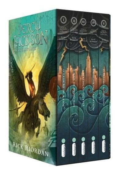 Box Coleção Percy Jackson E Os Olimpianos Livro 1 Ao 5