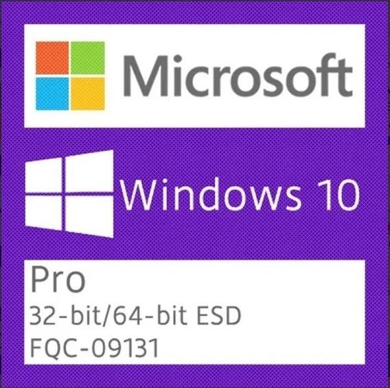 Iso,windows10pro X32 X64 Original+key 25 Digitos
