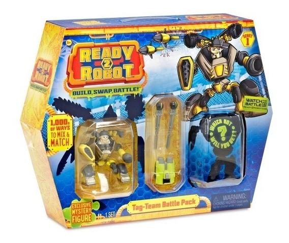 Ready 2 Robot Conjunto De Batalha Com Slime Amarelo Candide