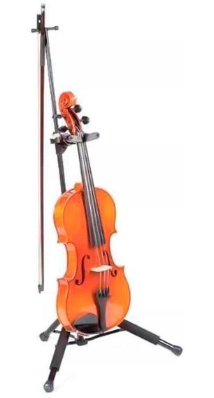 Suporte Violino Viola De Arco Hercules Ds571bb Dobrável