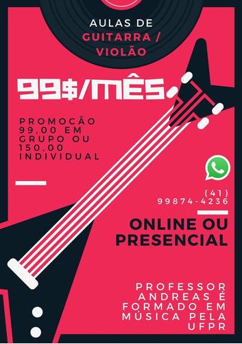 Imagem 1 de 1 de Aulas De Violão E Guitarra Online