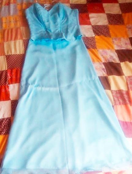Vestido Largo Falda Larga Y Chaleco Bordado (detalle)