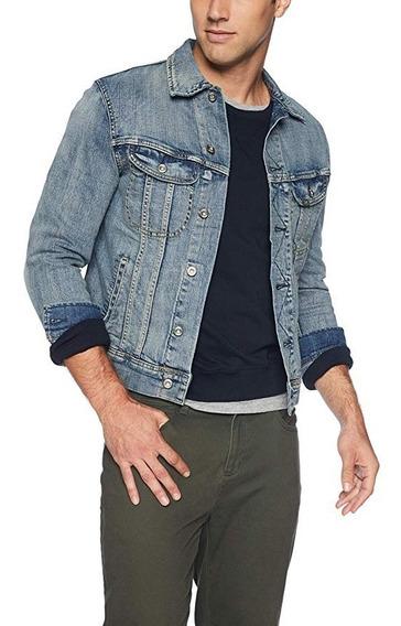 Chamarra Mezclilla Denim Jeans Casual Urbana Clasica Botones